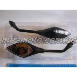Зеркала 8 мм стреловидные (черные матовые)(CRISTAL)(Z-750)