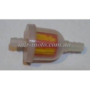 Фильтр бензиновый 004 (цветной) цилиндрический с бумажным элементом
